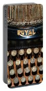 Steampunk - Typewriter -the Royal Portable Battery Charger by Paul Ward