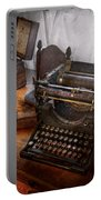 Steampunk - Typewriter - The Secret Messenger  Portable Battery Charger by Mike Savad