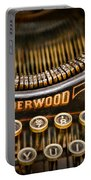 Steampunk - Typewriter - Underwood Portable Battery Charger by Paul Ward