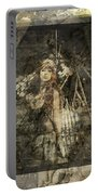 Steampunk Warrior Woman Portable Battery Charger