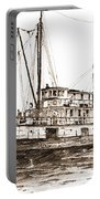 Steamship Bellingham Sepia Portable Battery Charger