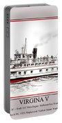 Steamship Virginia V Launch Poster Portable Battery Charger