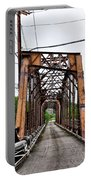Steel Span Railroad Bridge Manayunk  Philadelphia Pa Portable Battery Charger