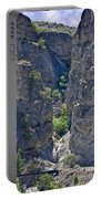 Steep Cliffs With Railroad Track Art Prints Portable Battery Charger