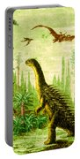 Stegosaurus And Compsognathus Dinosaurs Portable Battery Charger