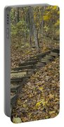 Step Trail In Woods 12 Portable Battery Charger