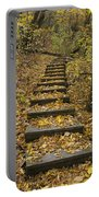 Step Trail In Woods 14 Portable Battery Charger