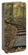 Step Trail In Woods 15 Portable Battery Charger