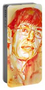Stephen Hawking Portrait Portable Battery Charger