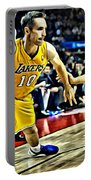 Steve Nash In Action Portable Battery Charger