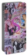 Stevie Nicks Art Collage Portable Battery Charger