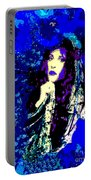 Stevie Nicks In Blue Portable Battery Charger
