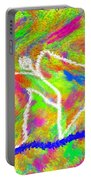 Stickman  Surfing  The  Colors Portable Battery Charger