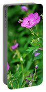 Sticky Geranium Portable Battery Charger
