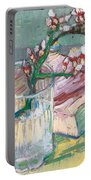 Still Life    A Flowering Almond Branch Portable Battery Charger by Vincent Van Gogh