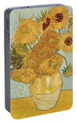 Still Life Sunflowers Portable Battery Charger