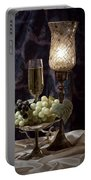 Still Life Wine With Grapes Portable Battery Charger