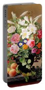 Still Life With Flowers And Fruit Portable Battery Charger