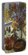 Still Life With Jug And African Bowl Portable Battery Charger by Ernst Ludwig Kirchner