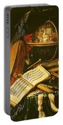 Still Life With Musical Instruments Oil On Canvas Portable Battery Charger