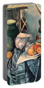 Still Life With Pitcher And Aubergines Oil On Canvas Portable Battery Charger