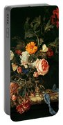 Still Life With Poppies And Roses Portable Battery Charger