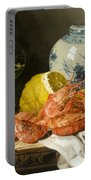 Still Life With Prawns And Lemon Portable Battery Charger