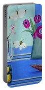 Still Life With Sea View Sold Portable Battery Charger