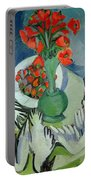 Still Life With Seagulls Poppies And Strawberries Portable Battery Charger
