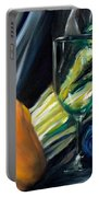 Still Life With Yellow Pepper Bok Choy Glass And Dish Portable Battery Charger