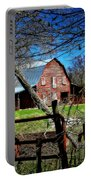 Still Useful Rustic Red Barn Art Oconee County Portable Battery Charger