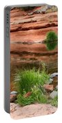 Still Waters At Slide Rock Portable Battery Charger
