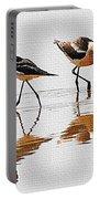 Stilt And Avocet Share The Pond Portable Battery Charger
