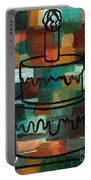 Stl250 Birthday Cake Earth Tones Abstract Portable Battery Charger