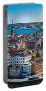 Stockholm From Above Portable Battery Charger