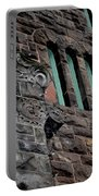 Stone Building Facade With Trefoil Window And Carved Detail Portable Battery Charger