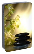 Stone Cairn And Orchids Portable Battery Charger