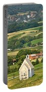 Stone Church In Green Nature Portable Battery Charger