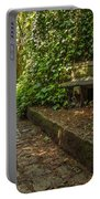 Stone Path Through A Forest Portable Battery Charger by Jess Kraft