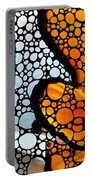 Stone Rock'd Clown Fish By Sharon Cummings Portable Battery Charger