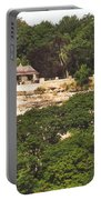 Stone Wall With Gazebo Portable Battery Charger