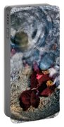 Stones And Fall Leaves Under Water-41 Portable Battery Charger