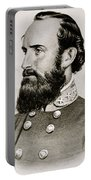 Stonewall Jackson Confederate General Portrait Portable Battery Charger