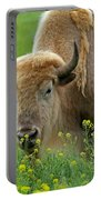 Stopped To Smell The Flowers Portable Battery Charger