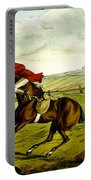 Stopping At Water From Qualified Horses And Unqualified Riders Portable Battery Charger
