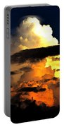 Storm At Dusk Portable Battery Charger