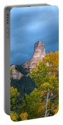 Storm Clouds Over Chimney Rock Portable Battery Charger
