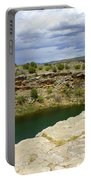Storm Clouds Over Montezuma Well Portable Battery Charger