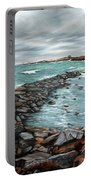 Storm In Rockport Harbor Portable Battery Charger