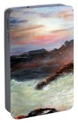 Storm On Mount Desert Island Portable Battery Charger
